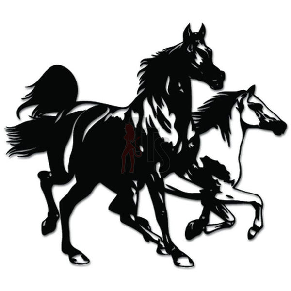 Running Horses Wild Decal Sticker Style 1