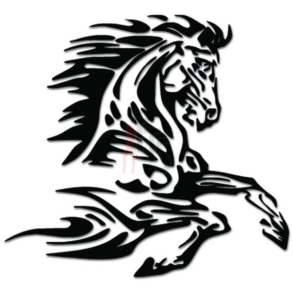 Running Horse Flame Fire Decal Sticker Style 2