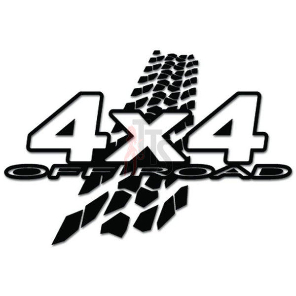 4x4 Off Road Tire Tracks Decal Sticker