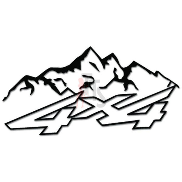 4x4 Off Road Mountain Decal Sticker