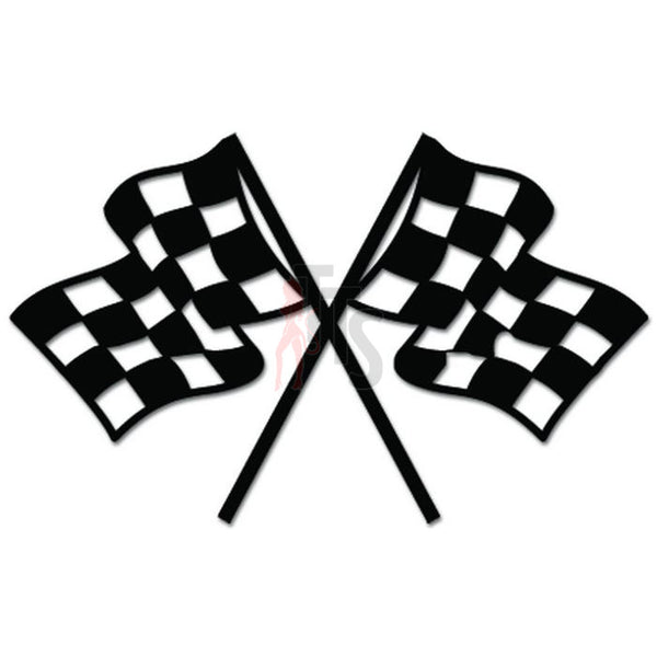 Racing Checkered Flag Auto Decal Sticker Style 1