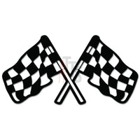 Racing Checkered Flag Auto Decal Sticker Style 2
