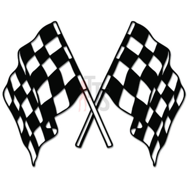Racing Checkered Flag Auto Decal Sticker Style 3