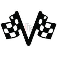 Racing Checkered Flag Auto Decal Sticker Style 4