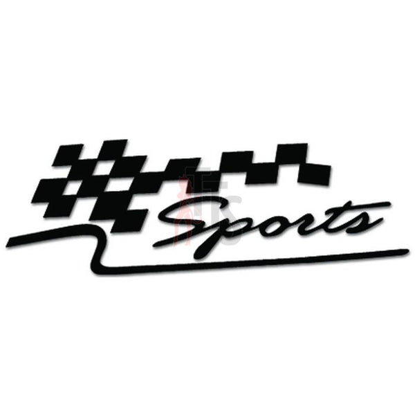 Racing Checkered Flag Sports Decal Sticker