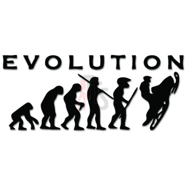 Evolution Ape To Snowmobile Sled Decal Sticker