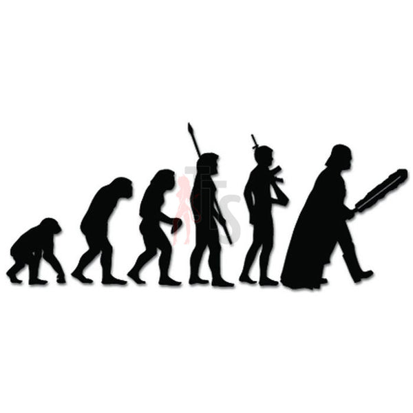 Evolution Ape To Darth Vader Decal Sticker