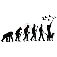 Evolution Ape To Duck Hunting Decal Sticker