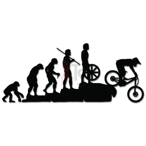 Evolution Ape To Mountain Biking Greyhound Running Dog Pet Decal Sticker