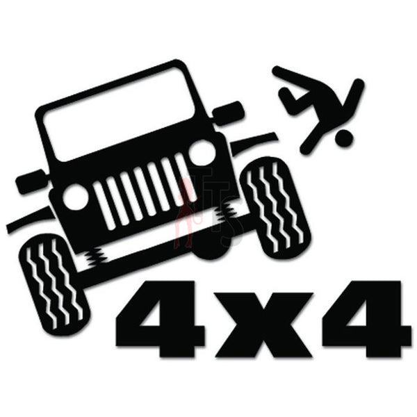 4x4 Off Road Dirt Mountain Thrown Out Decal Sticker