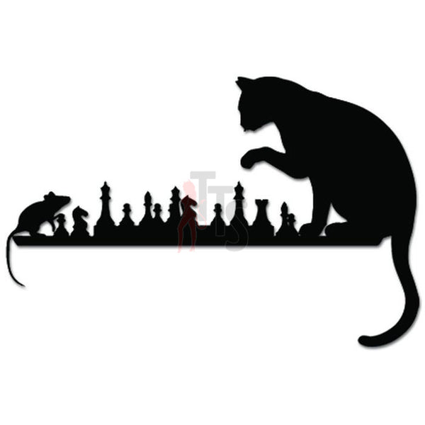 Cat Mouse Chess Game Decal Sticker