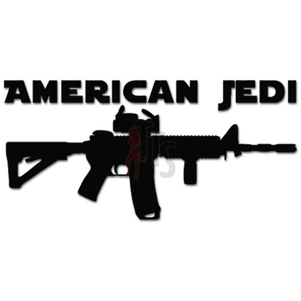 American Jedi Gun Rifle AR-15 Decal Sticker