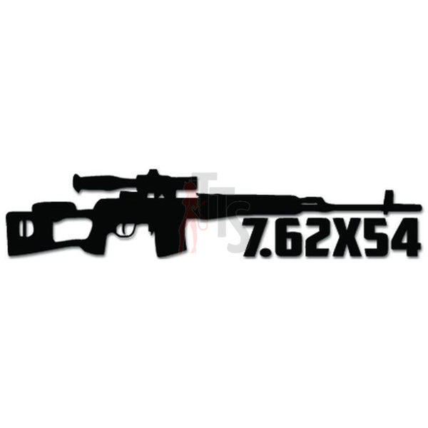 7.62x54 Cartridge Sniper Rifle Machine Gun Decal Sticker