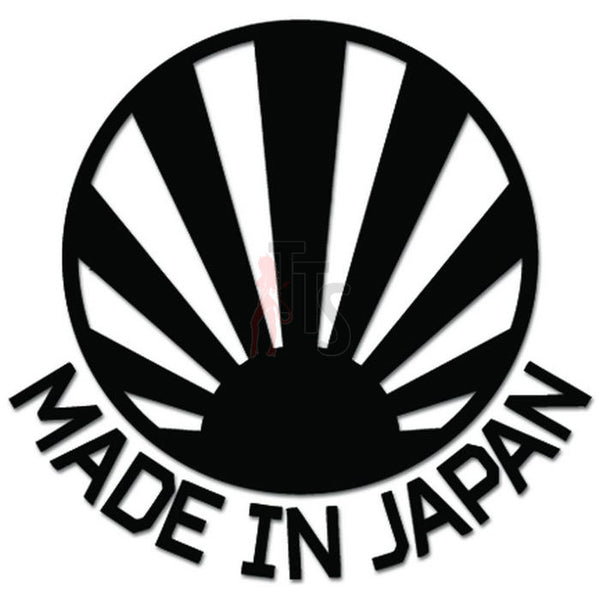 Made In Japan Rising Sun Flag JDM Japanese Decal Sticker Style 2