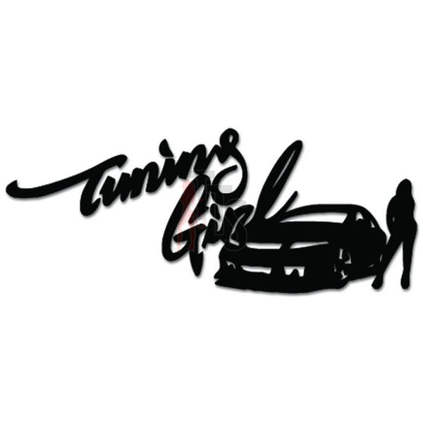 Tuning Girl Racing JDM Japanese Decal Sticker