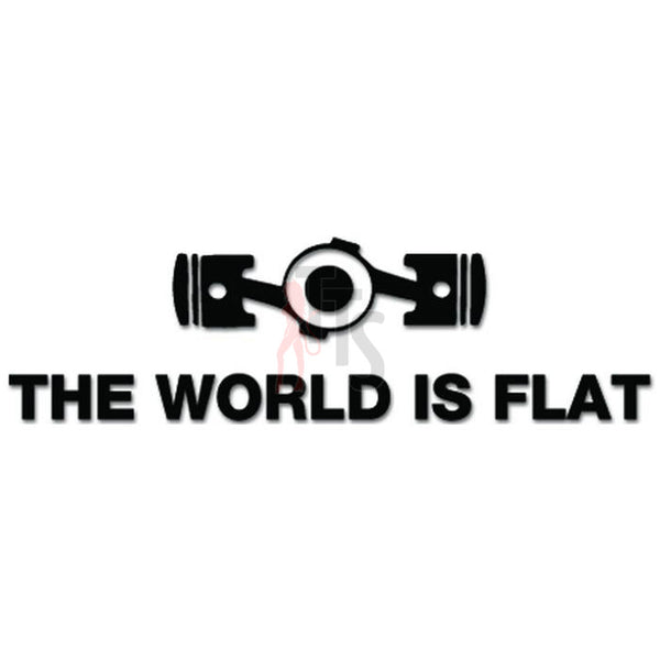 The World Is Flat Boxer Engine JDM Japanese Decal Sticker