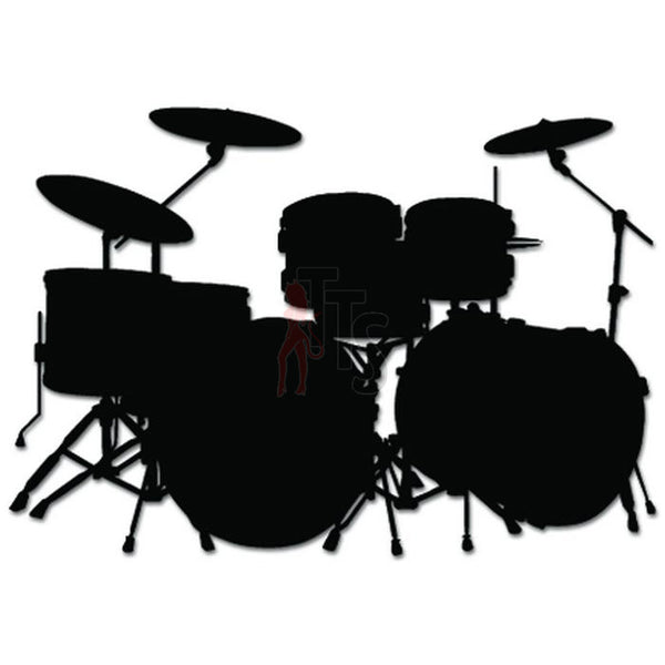 Drum Drummer Music Decal Sticker Style 2