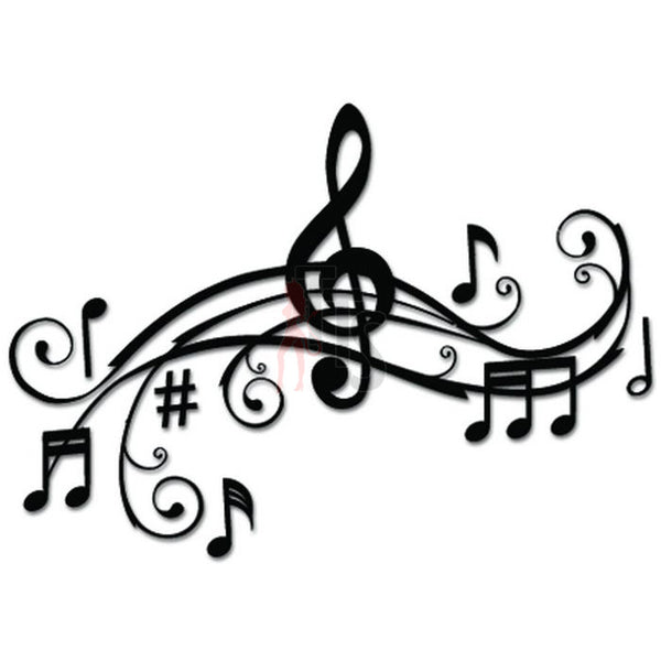 Music Notes Art Decal Sticker