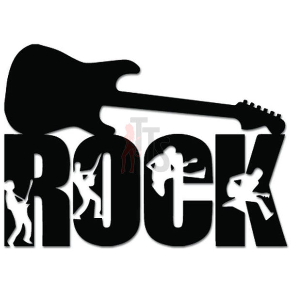 Rock Guitar Music Decal Sticker Style 2