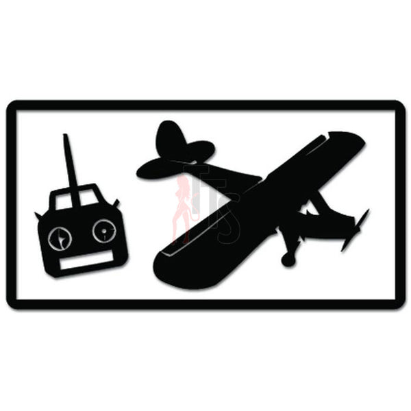 Airplane RC Pilot Remote Hobby Decal Sticker