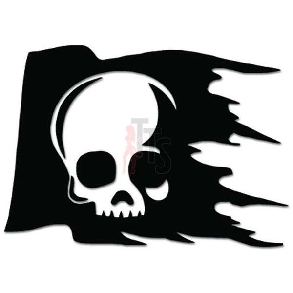 Death Skull Pirate Flag Jolly Roger Decal Sticker
