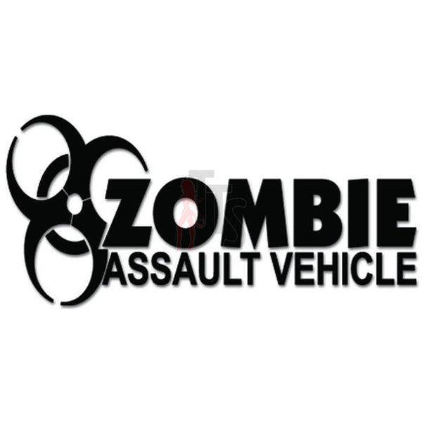 Zombie Assault Vehicle Biohazard Decal Sticker