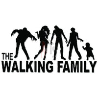 The Walking Family Zombies Decal Sticker Style 1