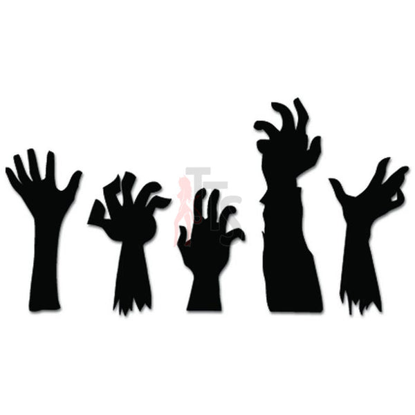 Zombie Hands Grave Family Decal Sticker
