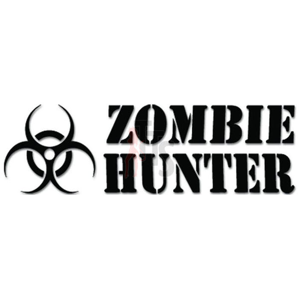 Zombie Hunter Biohazard Decal Sticker