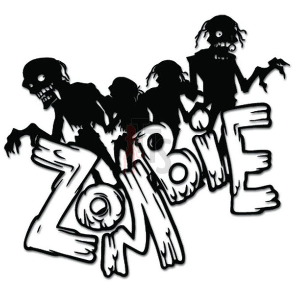 Zombies Waking Dead Decal Sticker