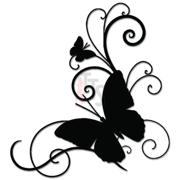 Flying Butterfies Butterfly Vine Decal Sticker