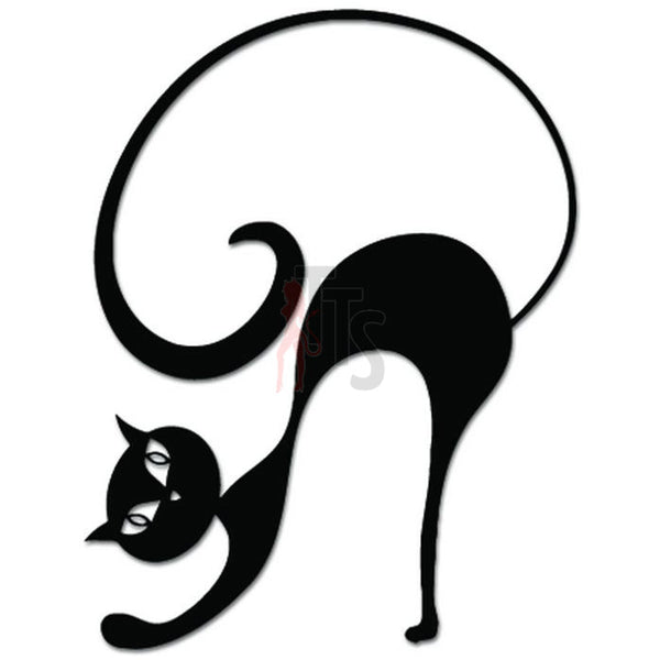 Cat Arching Decal Sticker