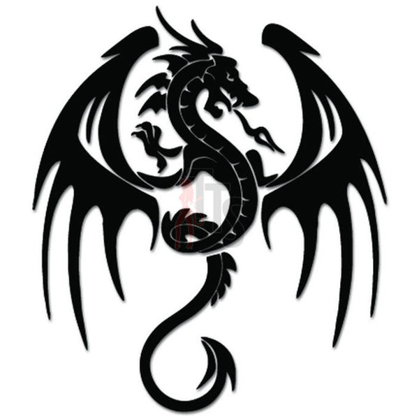 Tribal Dragon Decal Sticker Style 2