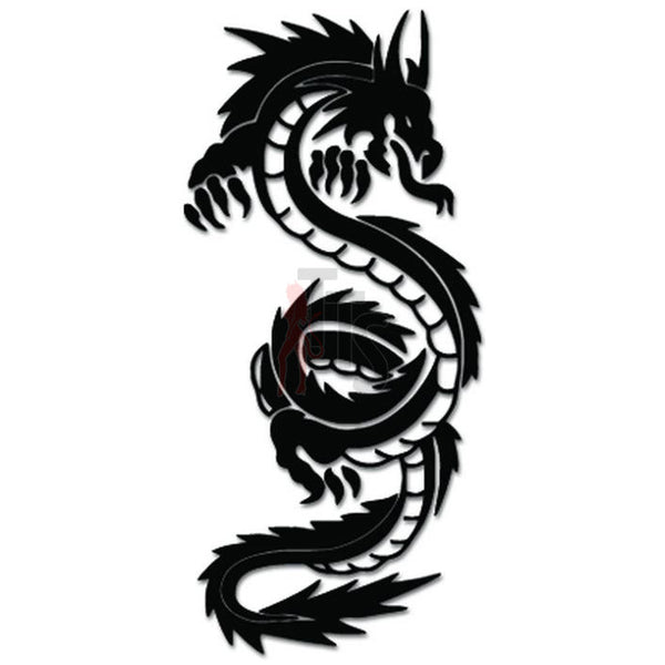 Tribal Dragon Decal Sticker Style 3
