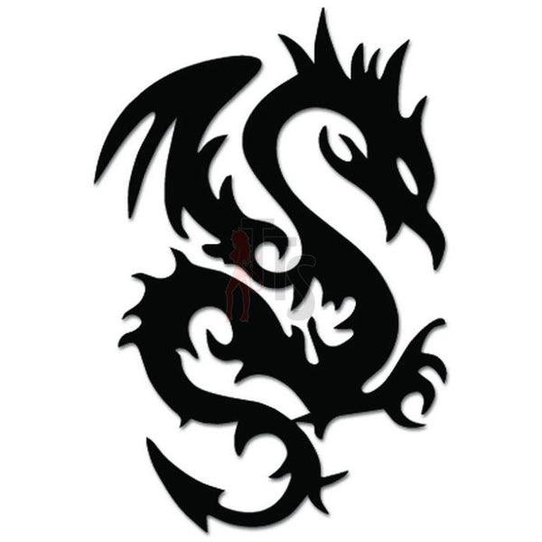 Tribal Dragon Decal Sticker Style 6