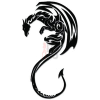 Tribal Dragon Decal Sticker Style 7