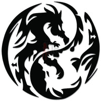 Tribal Dragon Decal Sticker Style 8