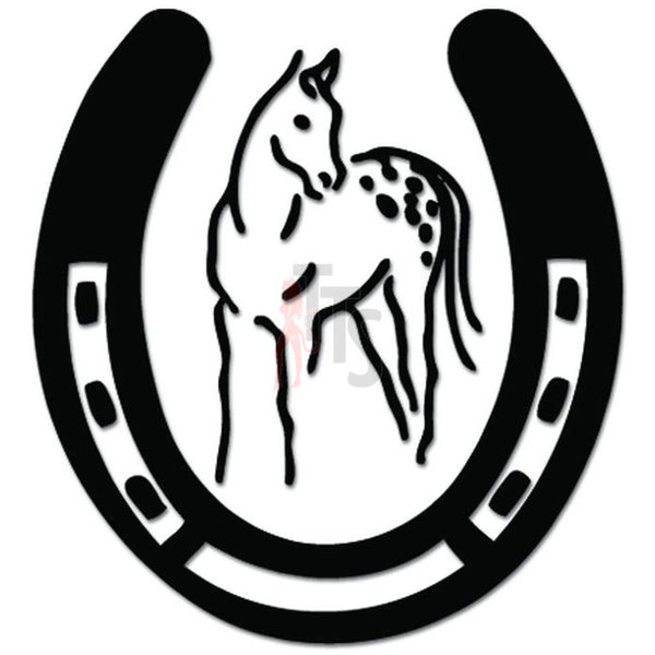 Appaloosa Horse Horseshoe Decal Sticker