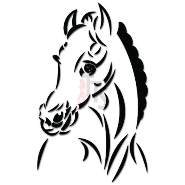 Horse Head Decal Sticker Style 2