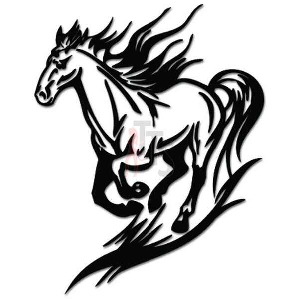 Horse Running Decal Sticker