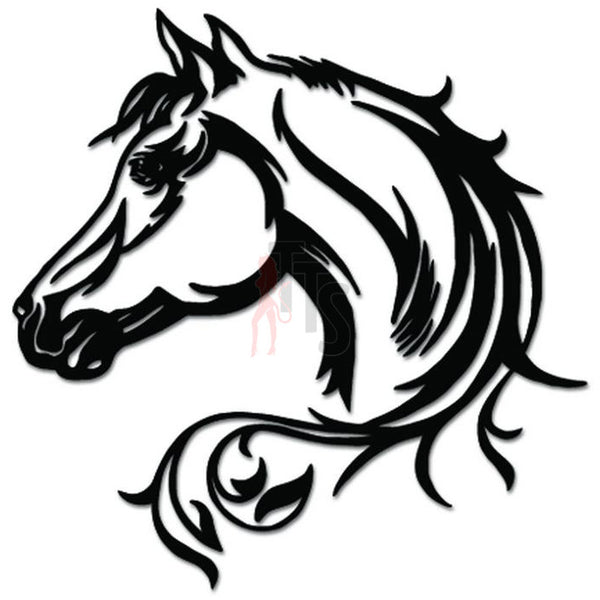 Horse Head Decal Sticker Style 3