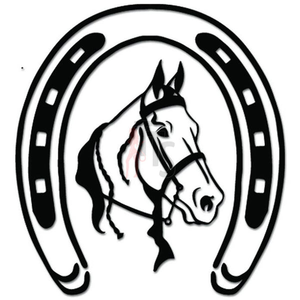 Horse Horseshoe Decal Sticker Style 1