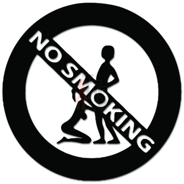 No Smoking Sex Blow Job Decal Sticker