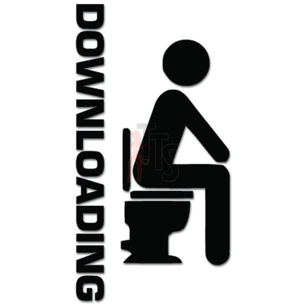 Funny Downloading Toilet Decal Sticker