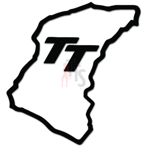 Isle of Man TT Motorcycle Track Decal Sticker