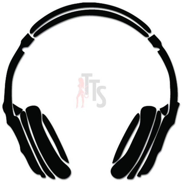 Headphones DJ Music Decal Sticker