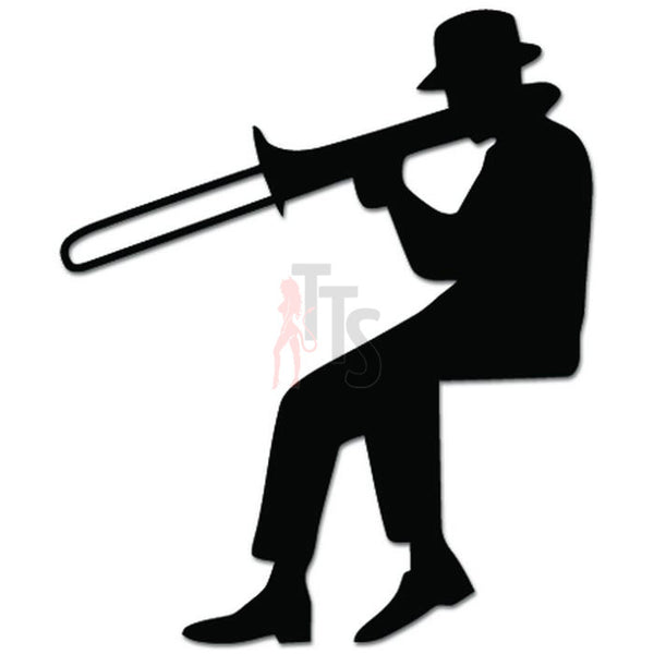 Trombone Player Music Decal Sticker