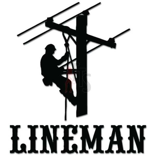 Lineman Electrician Pole Decal Sticker Style 1