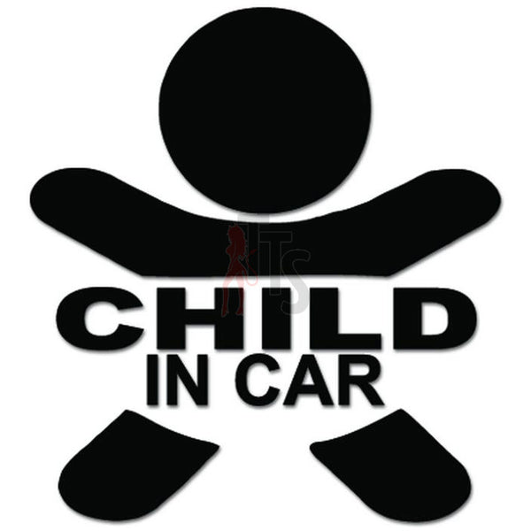 Child In Car Decal Sticker