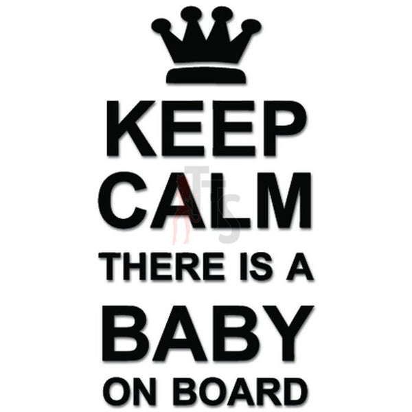 Keep Clam Baby On Board Decal Sticker